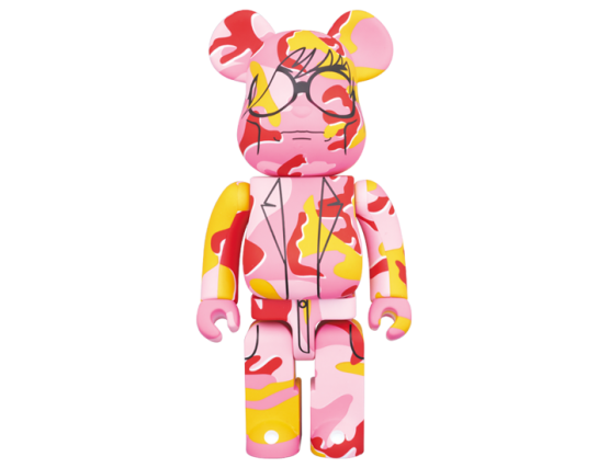 Bearbrick - Andy Warhol (Pink Camo Ver.)1000%
