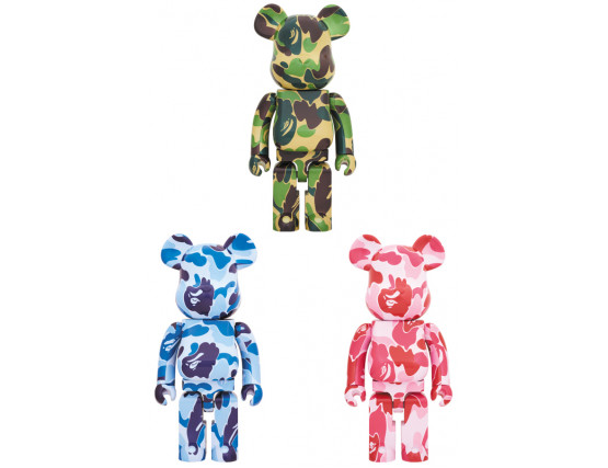 BEARBRICK - ABC CAMO 1000% GREEN/BLUE/PINK