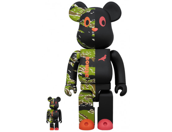 BEARBRICK - ATMOS × STAPLE 2 100% & 400%