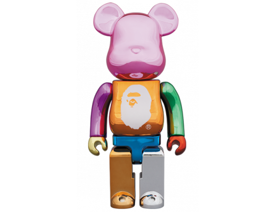 BEARBRICK - A BATHING APE (R) 25TH ANNIV. MULTI COLOR 1000%