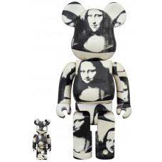 """BEARBRICK - ANDY WARHOL """"Double Mona Lisa"""" 100% & 400%"""