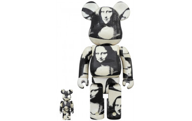 "BEARBRICK - ANDY WARHOL ""Double Mona Lisa"" 100% & 400%"