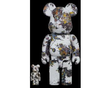 BEARBRICK - Jackson Pollock Studio (SPLASH) 100% & 400%