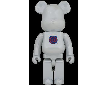 BEARBRICK - 1st MODEL WHITE CHROME 1000%