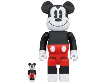BEARBRICK - MICKEY MOUSE (R&W 2020 Ver.) 100% & 400%