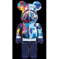 BEARBRICK - BAPE × M / MIKA NINAGAWA SHARK 100% & 400% BLUE