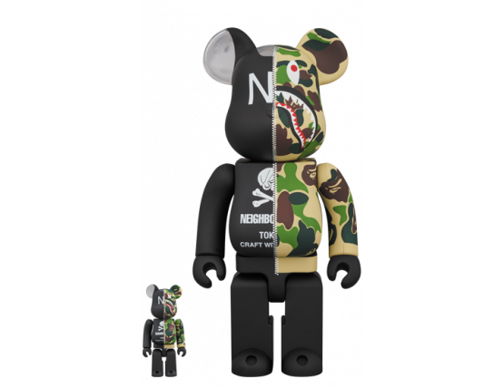 Bearbrick - A BATHING APE (R) × NEIGHBORHOOD(R) 100% & 400%
