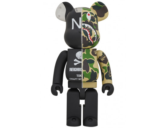 Bearbrick - A BATHING APE (R) × NEIGHBORHOOD(R) 1000%