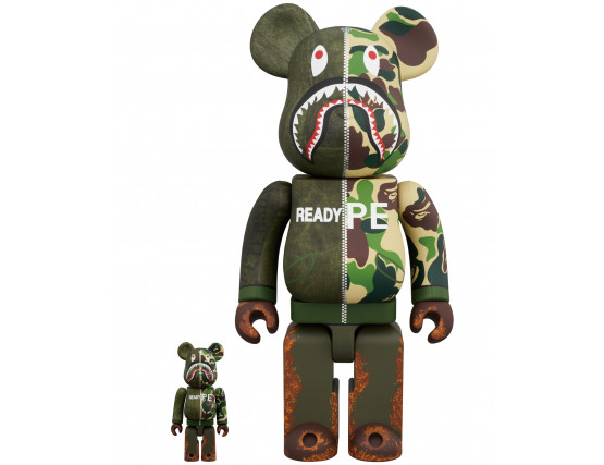 Bearbrick - A Bathing Ape x Readymade 100% & 400%