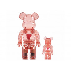 BEARBRICK - EMOTIONALLY UNAVAILABLE RED HEART 100% & 400%