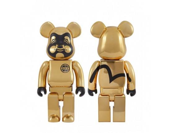 Bearbrick - EVISU 400% Gold-plated