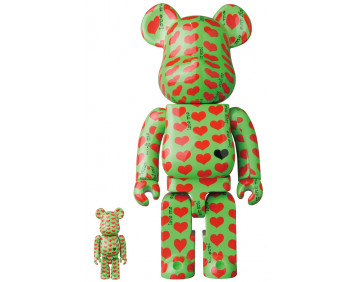 BEARBRICK - Green Heart 100% & 400%