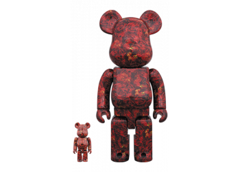 Bearbrick - mika ninagawa LEATHER ROSE 100% & 400%