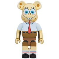 BEARBRICK - SPONGEBOB GOLD CHROME 1000%