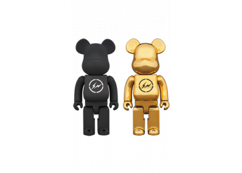 Bearbrick - THE CONVENI × fragmentdesign 400% BLACK/GOLD