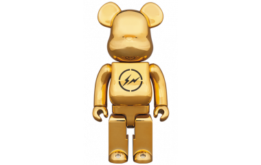 Bearbrick - THE CONVENI × fragment design 400% GOLD