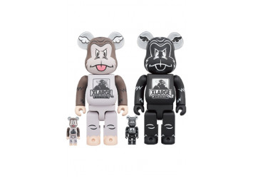 BEARBRICK - XLARGE × D*Face 100% & 400% BROWN/BLACK