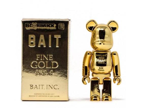 BEARBRICK - COMPLEXCON BAIT EXCLUSIVE FINE GOLD 999.9 VER. 100%