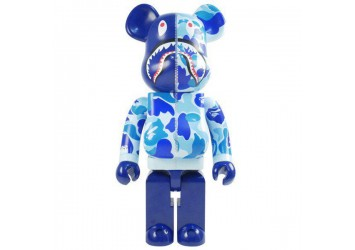 Bearbrick - A Bathing Ape ABC Camo Shark Blue 1000%
