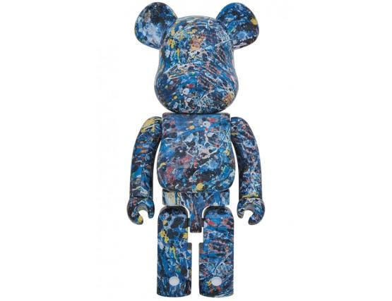 Bearbrick - Jackson Pollock Studio 1000%