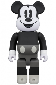 Bearbrick - MICKEY MOUSE (B&W Ver.) 400%