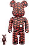 BEARBRICK - BLACK HEART 100% & 400%